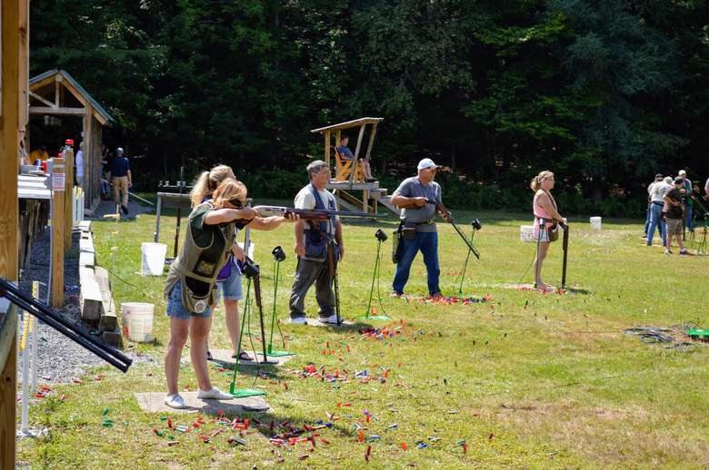 people at shooting event