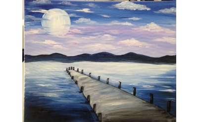 Sunset Dock Paint Event