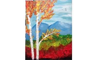 Fall Birch Paint Event