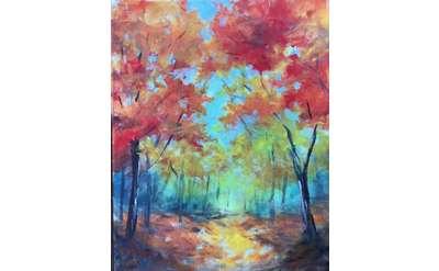 Fall Path Paint & Sip
