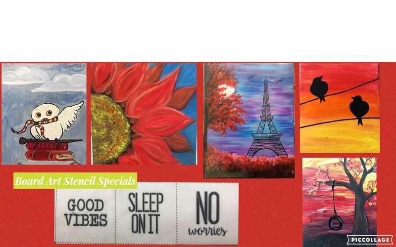 Open Art Studio September Canvas Painting Special $14 / Board Art Special $22 - Fridays (1)