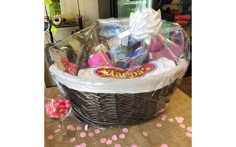 ALL proceeds of raffle basket tickets donated to Making Strides Against Breast Cancer of the ADKs!