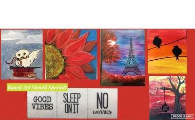 Open Art Studio September Canvas Painting Special $14 / Board Art Special $22 - Sundays