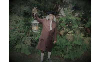 ben franklin with lantern