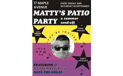 Patio Party Flier