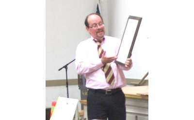 Mark Lawson of Mark Lawson Antiques at the Malta Community Center Antique Appraisal Show