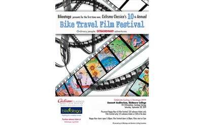 Bikeatoga Presents Ciclismo Classico's 10th Annual Bike Travel Film Festival Poster