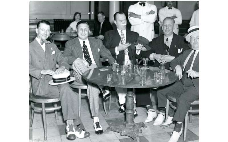 Gangsters, Saratoga Springs, NY.  Photo courtesy of Saratoga Springs History Museum, George S. Bolster Collection