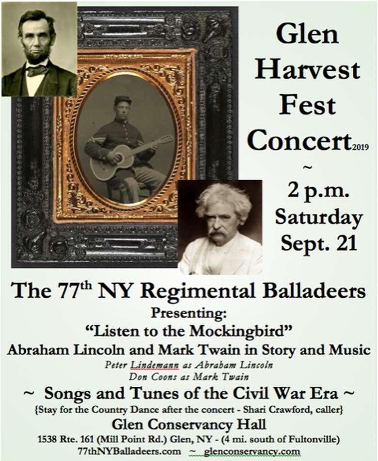 Glen Harvest Fest Concert Poster
