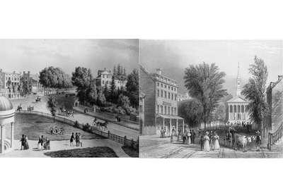 Saratoga Springs and Ballston Spa Circa 1830