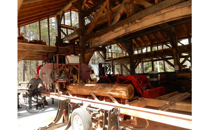 Saw mill demonstration at Martins Lumber