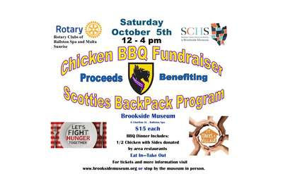 poster of bbq fundraiser