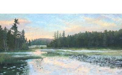 Sunset on Heron Marsh Pond, Susan Whiteman