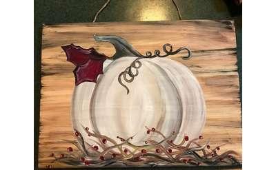 Pumpkin Board Art