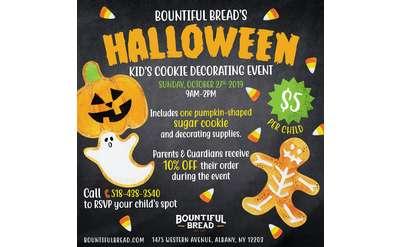 Bountiful Bread Halloween Kid's Cookie Decorating Event