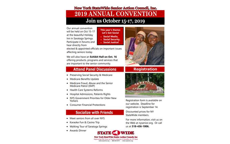 Official Flyer for the 2019 Annual Convention