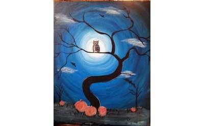 Spook Owl Paint & Sip