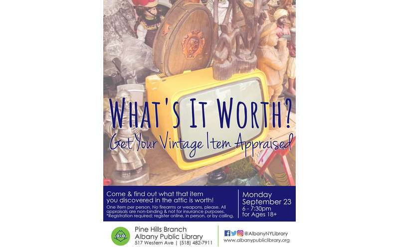 Whats It Worth >> What S It Worth Monday Sep 23 2019 Albany Ny Events