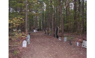 haunted hayride path