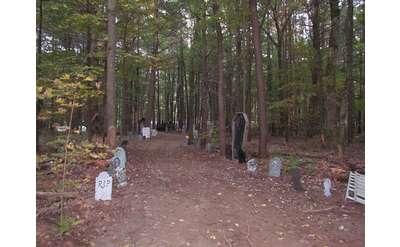 haunted hayride path