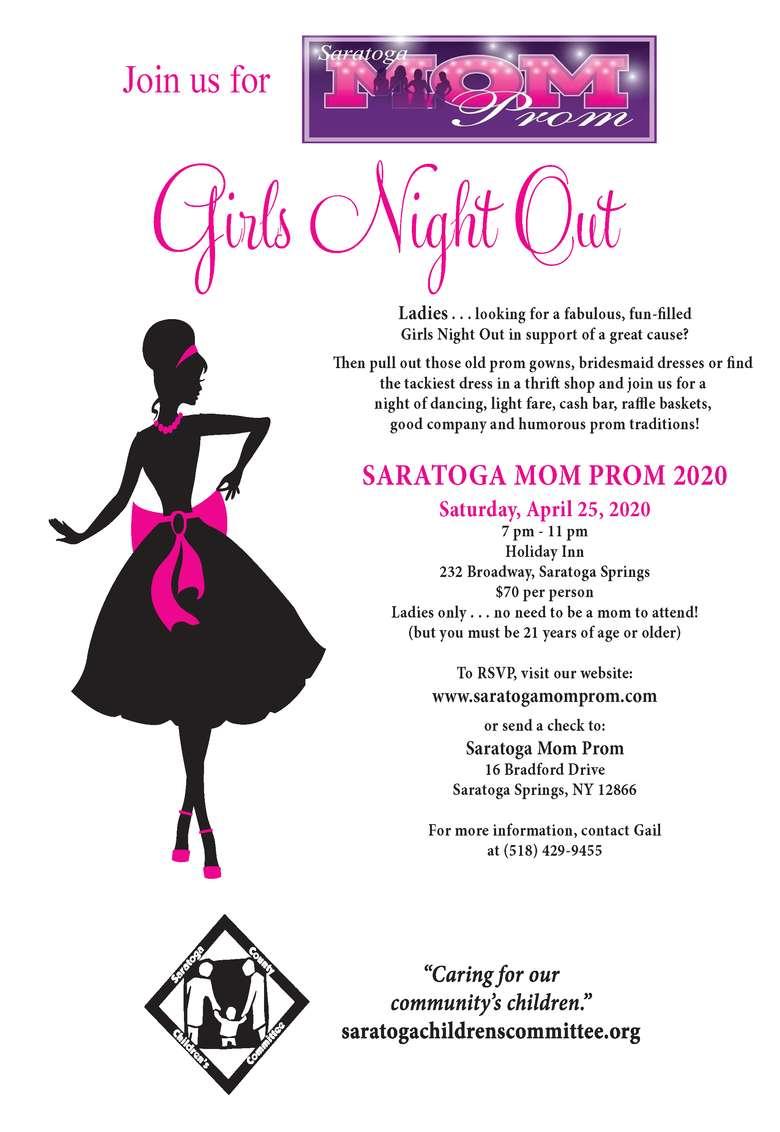 Saratoga Mom Prom Flyer