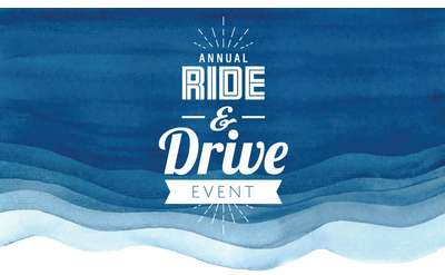 banner that says annual ride and drive event
