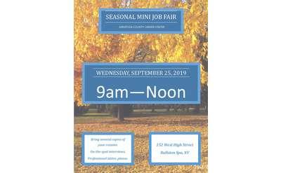 Seasonal Mini Job Fair