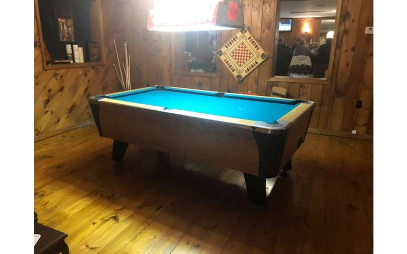 Pool league at Nostalgia, we have 2 tables and they are looking to add more people
