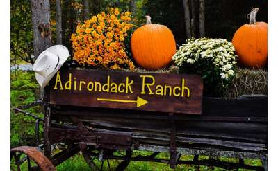 Adirondack Ranch Entrance Fall