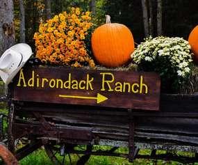 Adirondack Ranch Entrance Fall