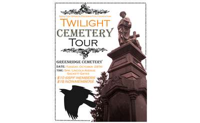 Twilight Cemetery Tour Poster