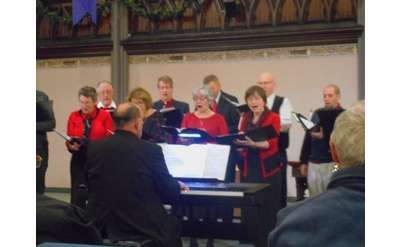 Emmanuel Baptist choir accompanied by Michael Clement
