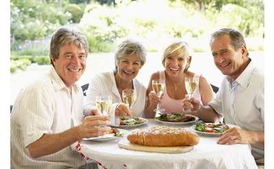 People enjoying dinner Photo