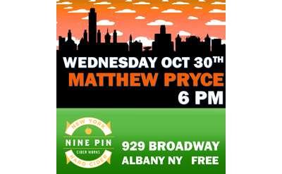 Matthew Pryce at Nine Pin Cider