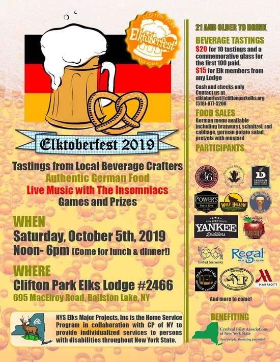 Clifton Park Elks 2466 Elktoberfest Saturday Oct 5 2019