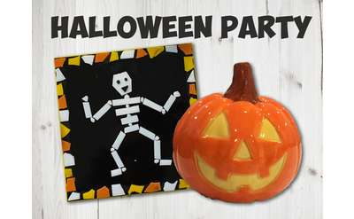 Kids Night Out Halloween Party at Arts & Glass Banner