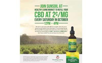 Sunsoil CBD Refill Event Poster