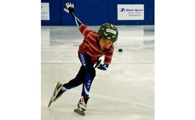 Albert Zhong his first year of skating. At age 18 Albert made Junior World Team.