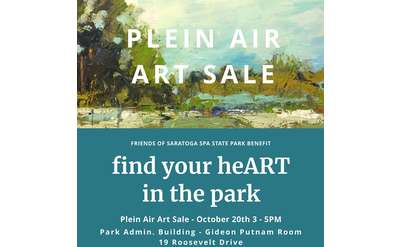 plein air art sale poster