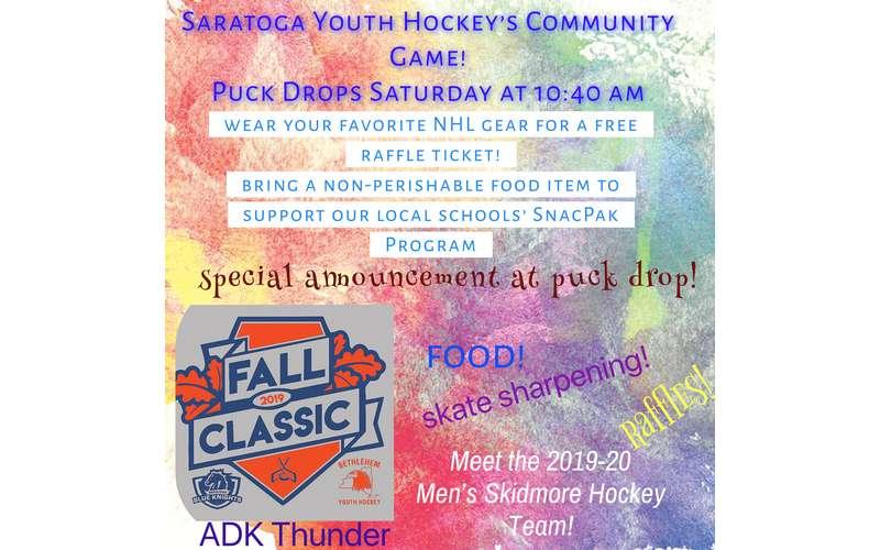 Saratoga Youth Hockey - The Fall Classic, Saturday October 26th