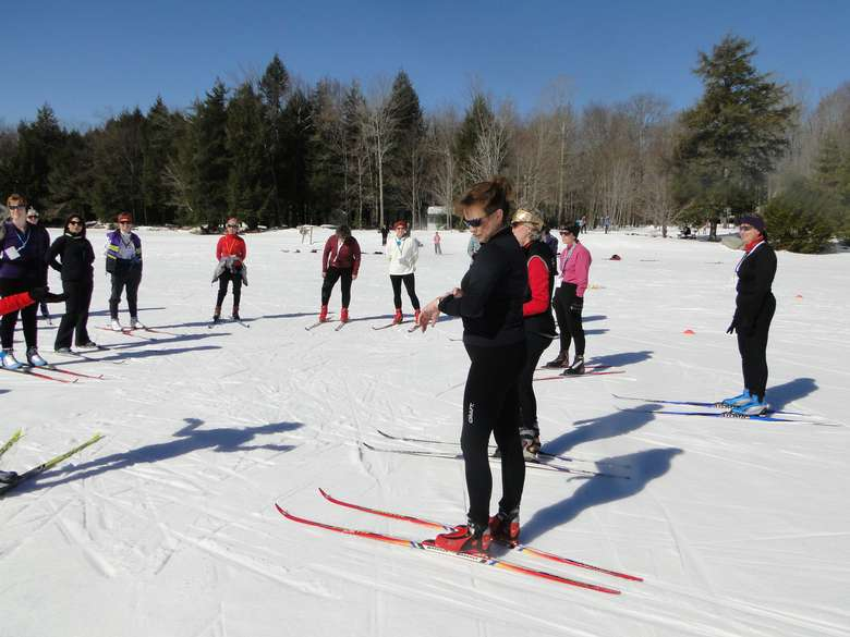 Ladies Nordic ski clinic at Lapland Lake