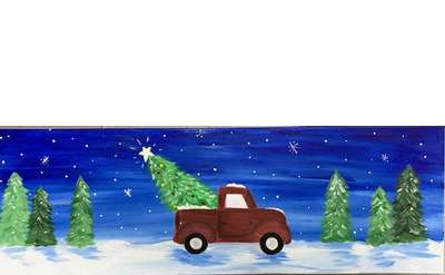 Holiday Truckin Paint & Sip Event