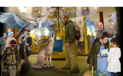 The exhibits come alive at Night at the Discovery Center!