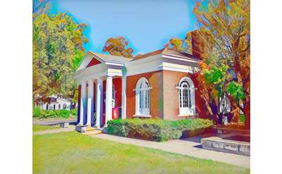 Hudson Falls Free Library - by Kendall McKernon