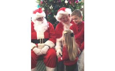 Chatting with Santa and the Mrs.