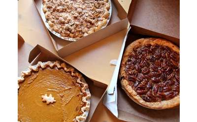 Autumn Pies in Boxes