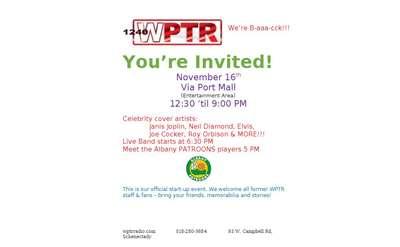 WPTR Invitiation
