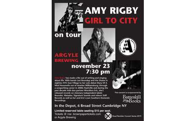 Amy Rigby concert poster for Argyle Brewing