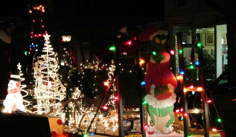 Lighted Holiday Parade in Cambridge Photo