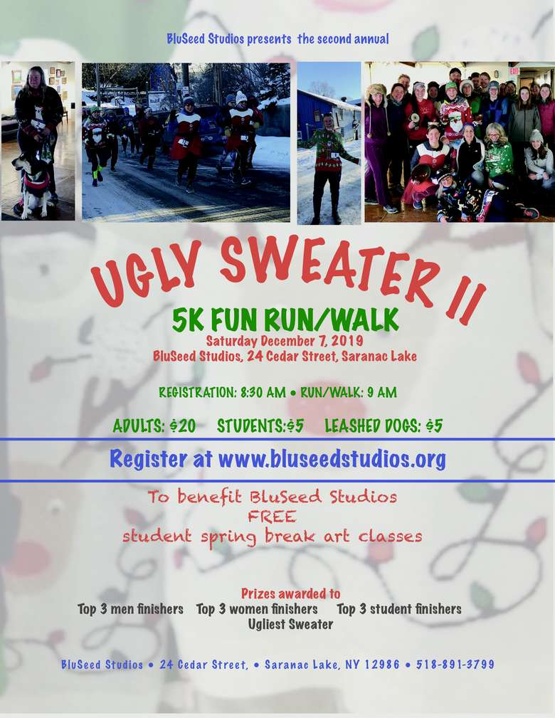 Poster for BluSeed Ugly Sweater Fun Run/Walk
